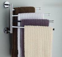 Bekith Wall-Mounted Stainless Steel Swing Bathroom Towel ...