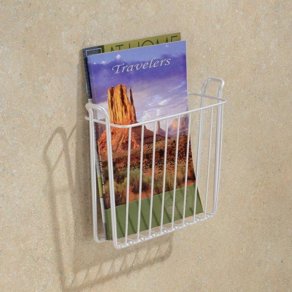 Wall Mount Magazine File Rack Storage Organizer