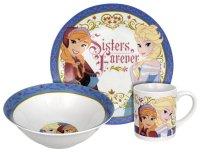 Disney Frozen Sisters Forever 3-Piece Dinnerware Set | eBay