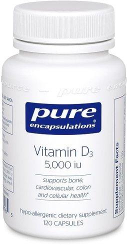 Pure Encapsulations - Vitamin D3 5,000 i.u. 120's (Premium Packaging)