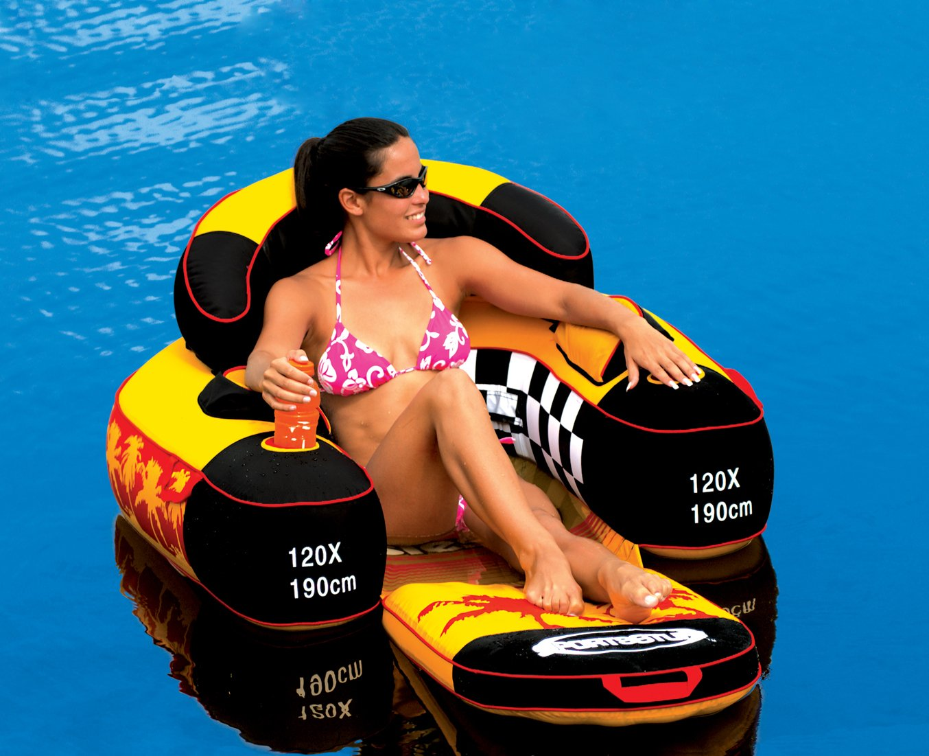 floating chair for lake 50s table and chairs river rafting float pool tube inflatable lounge