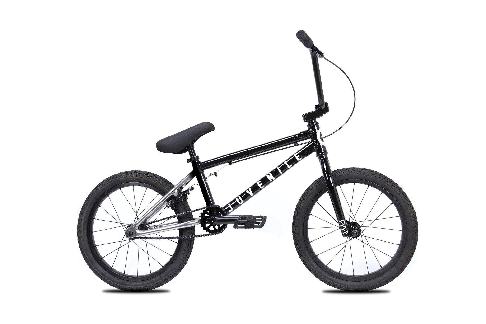 Cult Juvenile 18 Complete Bmx Bike Black Silver