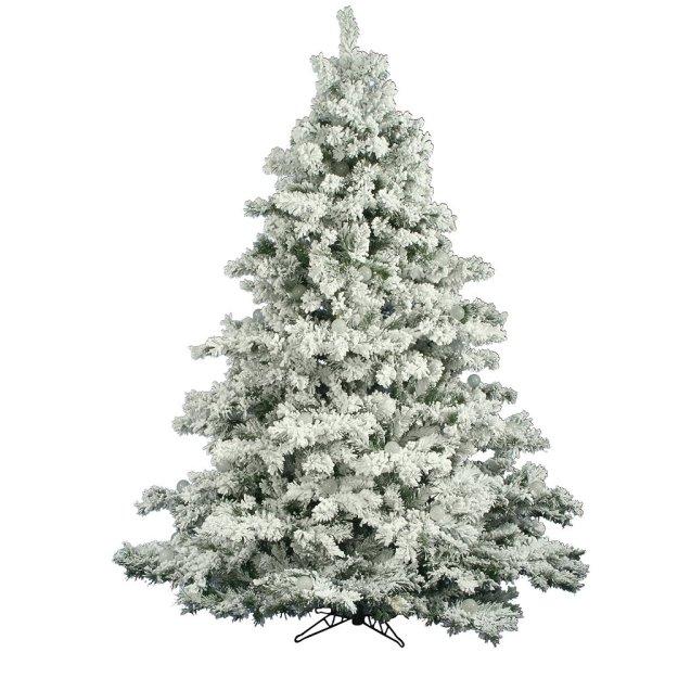 Vickerman Flocked Alaskan Clear Pre-lit Christmas Tree