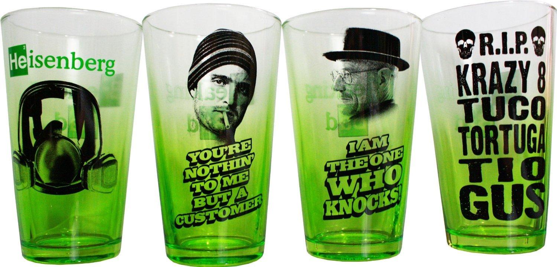 Walter white green apron - Amc Breaking Bad Green Fade 4pk Of Pint Glasses