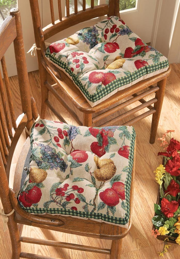 Kitchen Chair Cushions with Ties  fel7com