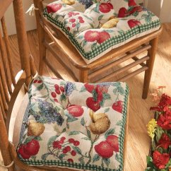White Cushion Chair Folding Walmart Kitchen Cushions With Ties – Fel7.com