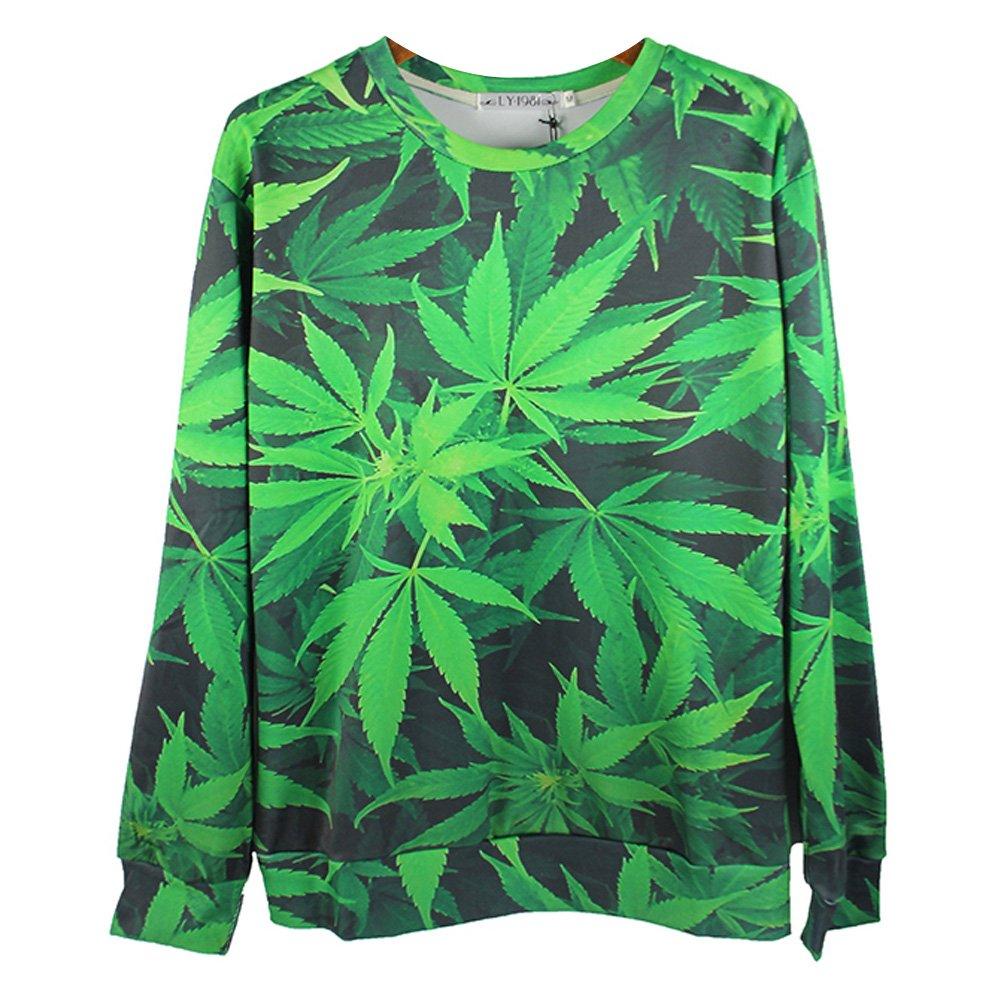 Cannabis Print Sweatshirt