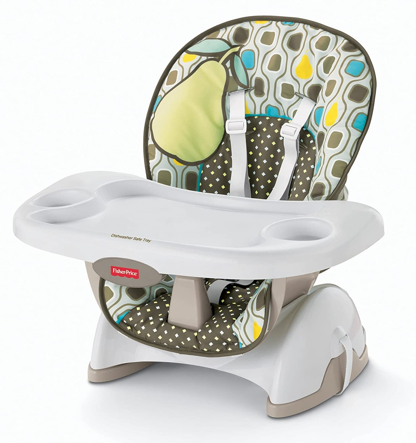 fisher price spacesaver high chair folding tent seat pad pear ebay