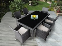 Ohana Outdoor Patio Wicker Furniture 7Pc