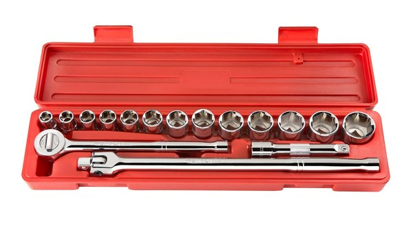 Tekton 11651 1 2- Drive Pro Socket Set Sae 17-piece Free Shipping