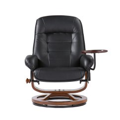 Reclining Chair With Ottoman Leather Costco Kids Table And Chairs Adjustable Black Recliner Office