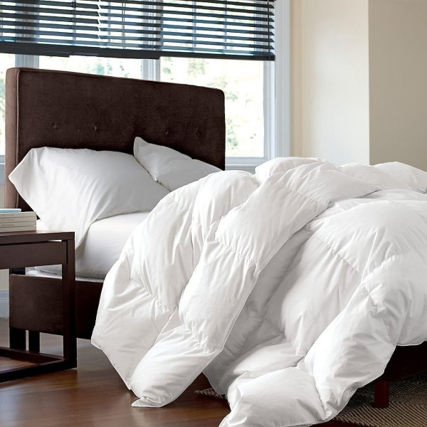 Goose Comforter White Twin Size Bedding Luxurious Hotel Medium Warm 1200tc