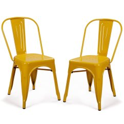 Metal Bistro Chairs Chair Covers For Living Room Adeco Stackable Industrial Chic Dining Cafe