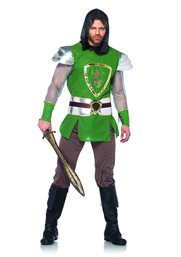Leg Avenue Men's 4 Piece Queens Guard Costume, Green, X-Large