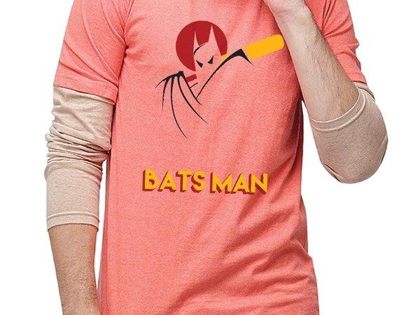 Campus Sutra Men Printed Full Sleeves Sheldon T-Shirts Batsman