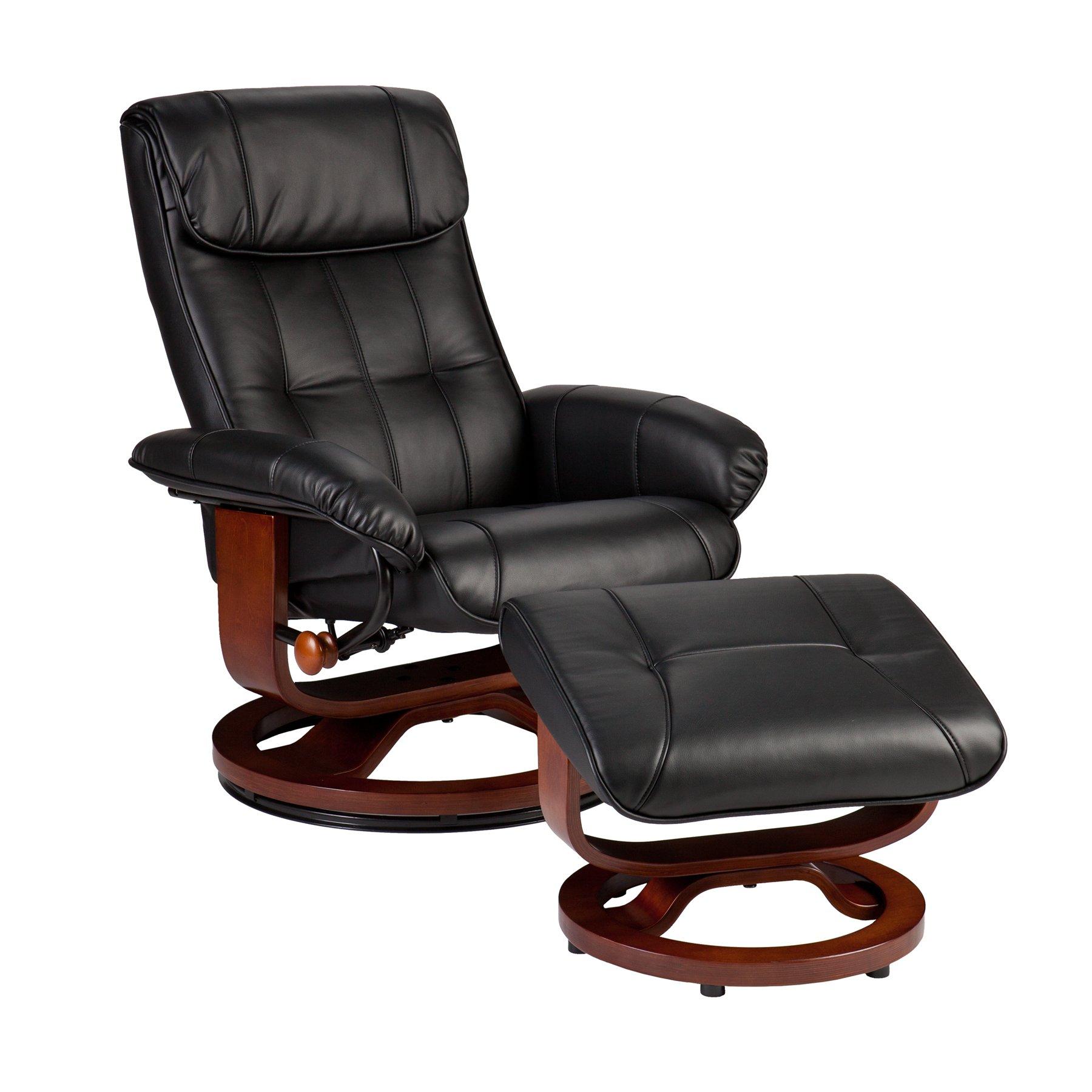 recliner vs chair with ottoman outdoor rocking set sei u base donavan and black bonded