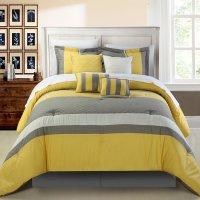 Yellow and Grey Bedding  fel7.com