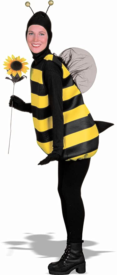Women's Bumble Bee Costume, Black/Yellow, Standard