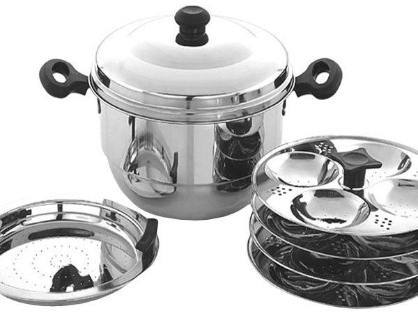 Embassy Stainless Steel Idli Maker / Pot With Steamer, 16 Idlis