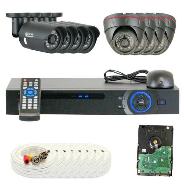 8 Channel Dvr Hd 2.0mp 1080p Hd-cvi Outdoor Indoor Home Security Camera System
