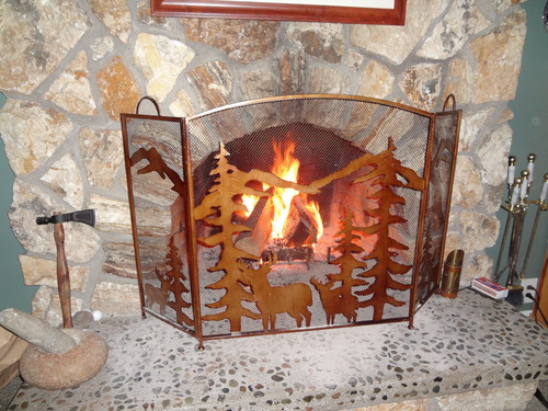 Gifts & Decor Rustic Forest Folding Fireplace