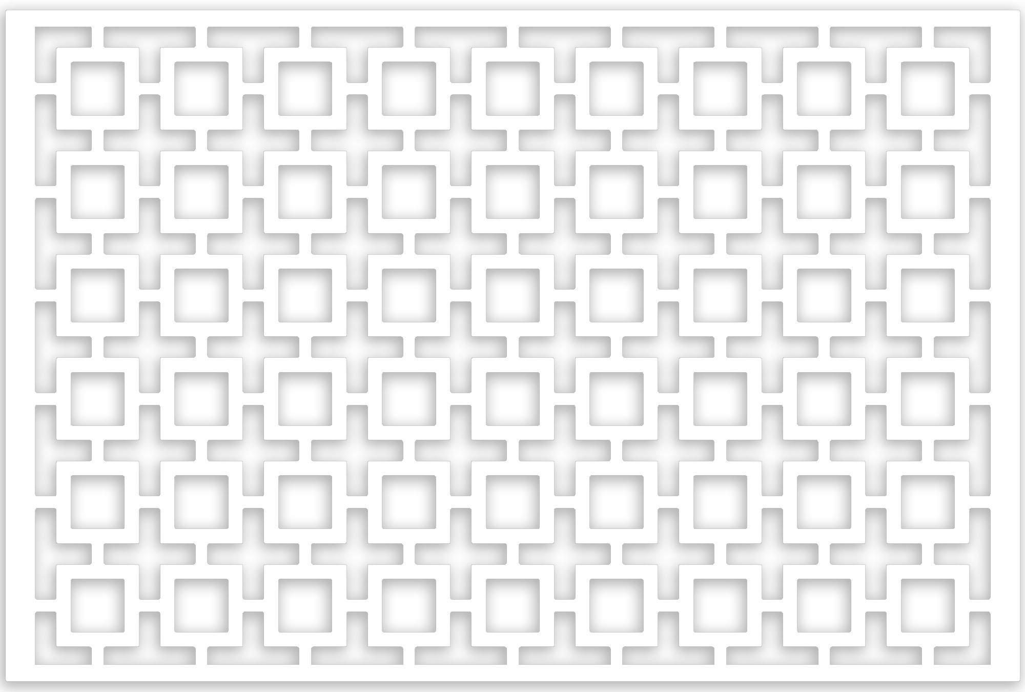 Acurio Lattice Retro Squares Outdoor Decor Panel Screen