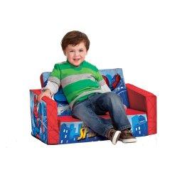 Toddler Flip Sofa Cover Granite Top Table Open Spiderman Kids Room Bed Boys