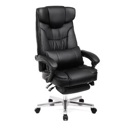 Folding Executive Chair Dark Brown Wood Dining Chairs Songmics Extra Big Tall Office Ergonomic Gaming Swivel With Foldable Headrest And