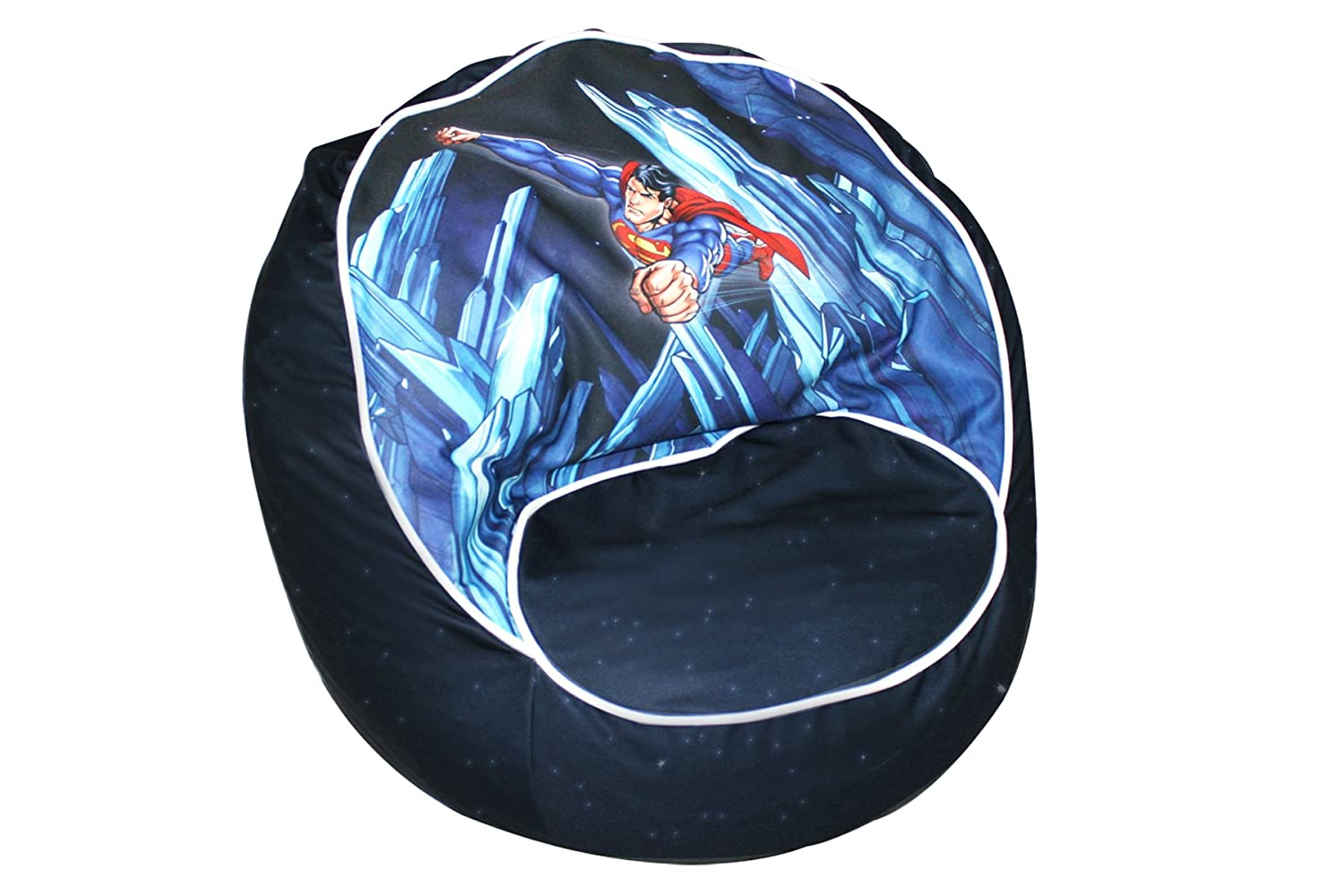 superhero bean bag chair countertop tables and chairs superman furniture totally kids bedrooms