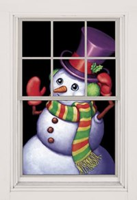 Snowman Window Decorations | Christmas Wikii