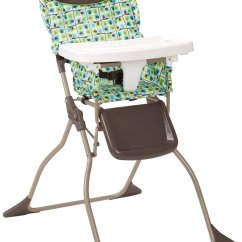High Chair That Folds Flat Adjustable Over Table Cosco Simple Fold Elephant Squares