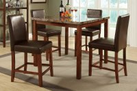 Marble Top Kitchen Table Dining Set Leather Upholstered ...