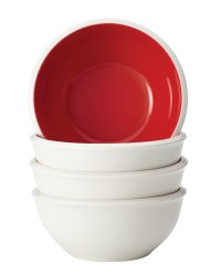 Rachael Ray Rise Dinnerware 4-Piece Cereal Bowl Set, Red ...