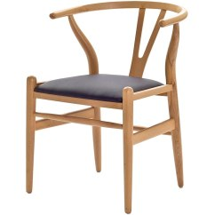 Wishbone Chairs Steel Express Chair Car Seating Arrangement Hans Wegner With Leatherette Seat Modern