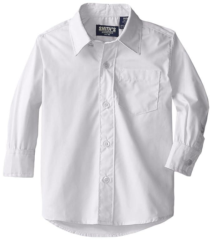 Smith's American Little Boys' Poplin Shirt, White, 2T