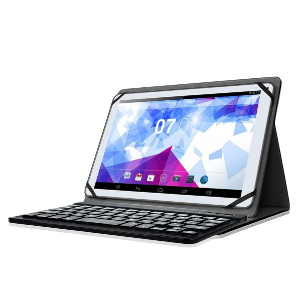 Universal 9-10 Tablet Leather Case Cover With Removable Bluetooth Keyboard