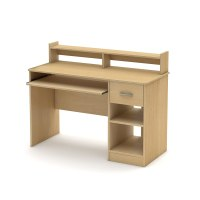 Computer Desk with Sliding Keyboard Tray Book Shelf Hutch ...
