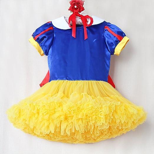 Girls Snow White Costume Dress Halloween Costumes Dressup (2 Years)