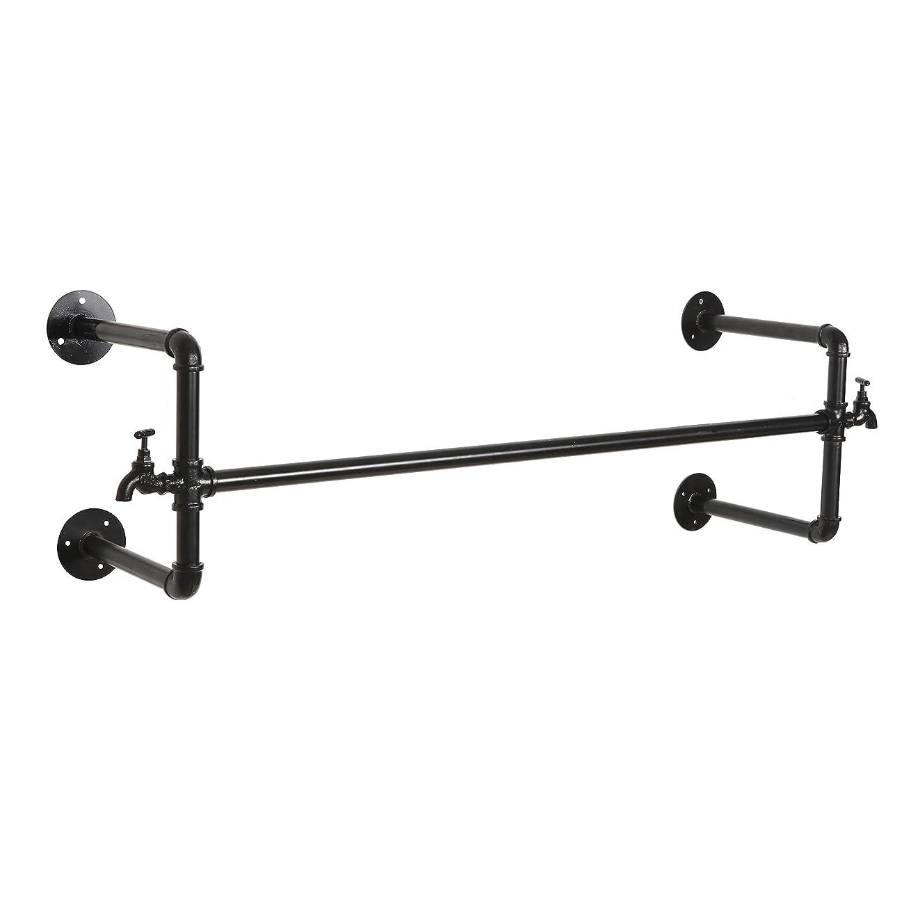 Black Metal Wall Mounted Faucet Design Closet Rod Garment