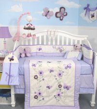 Soho Lavender Flower Garden Baby Bedding Collection - Baby ...