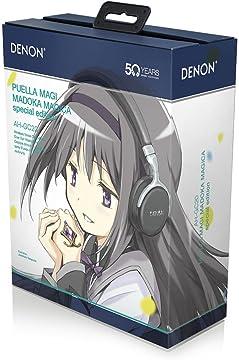 DENON ワイヤレスヘッドホン 魔法少女まどか☆マギカ・スペシャルエディション Bluetooth/ノイズキャンセリング対応 ブラック AH-GC20-MDK