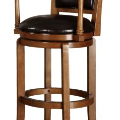 Bar Chairs With Arms And Backs Revolving Chair Base Wheels Poundex F4132 Swivel Brown