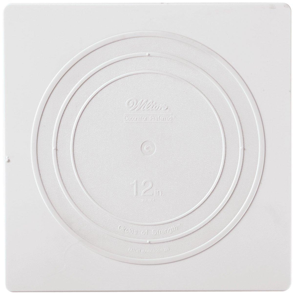 Wilton White Smooth Edge Square Separator Cake Plate