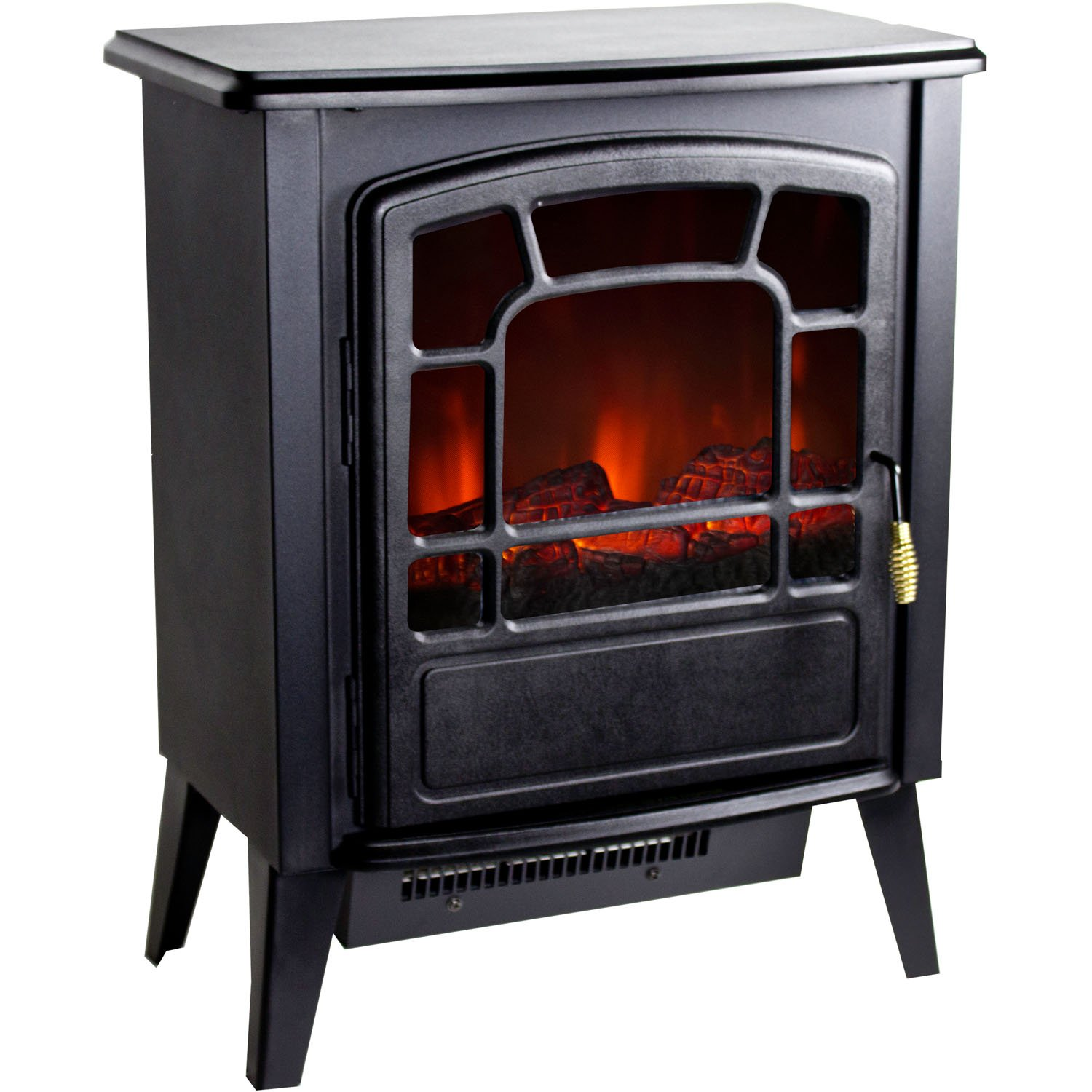 NEW Portable Floor Standing Electric Fireplace Retro Logwood Flame Space Heater  eBay