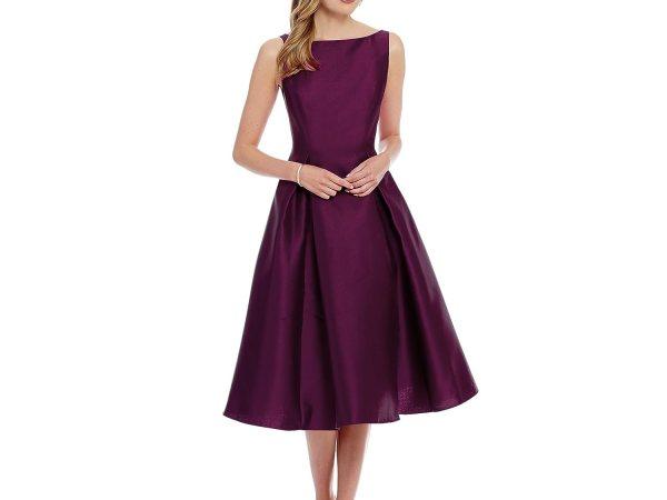 Shivalika Tex Women's Purple Skater Dress