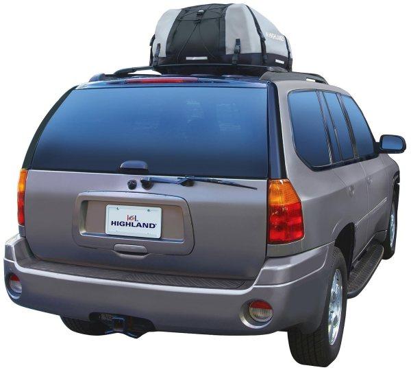 Highland 103980 Car Top Bag Roof Rack Storage Expandable Black Gray 10-15 Cu.ft