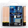 Pro art 18 piece sketch draw pencil set includes 12 differently shaded
