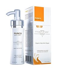 This Face Moisturizer Will Change Your Life!! (New For 2016) PUNCH Skin Care® Daily Skin Repair Oil-Free Facial Moisturizer 3.2oz, All-Natural Effective Face Moisturizer.