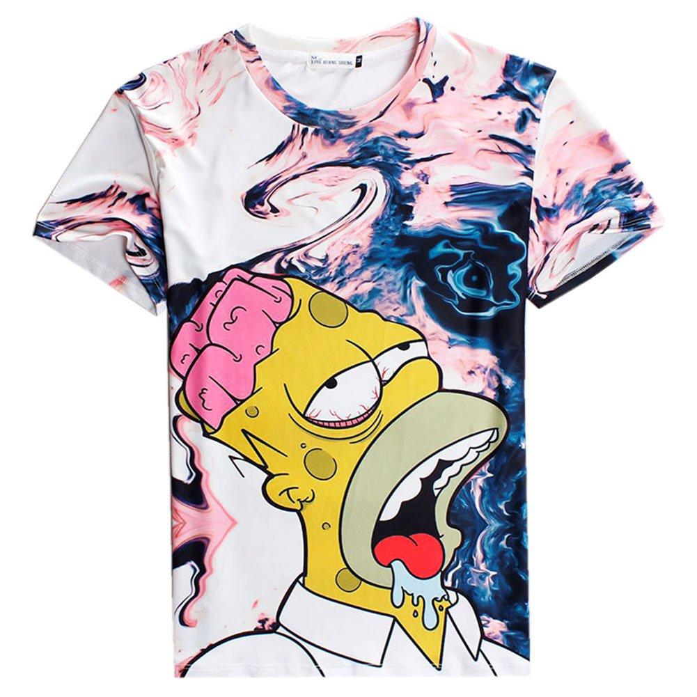 T shirt Summer Simpson Cartoon Clothing for Men Women's Top Tee tshirt, L