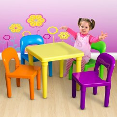 Children S Living Room Chairs Waterproof Dining Chair Covers And Kids Table Set Includes 4